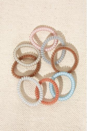 Fall Matte Coil Hair Ties MULTI