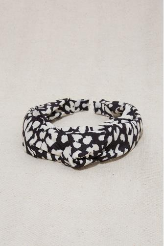 Leopard Knot Headband BLACK MULTI -