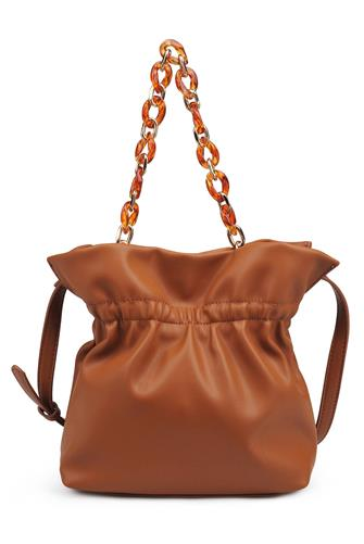 Tan Lilina Vegan Leather Crossbody Bag TAN