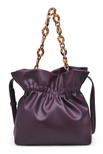 Burgundy Lilina Vegan Leather Crossbody Bag BURGUNDY