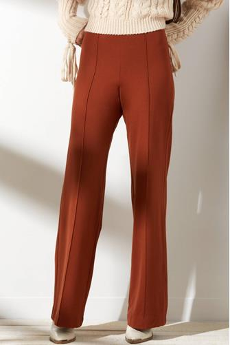 Pull-On Knit Flared Pant RUST
