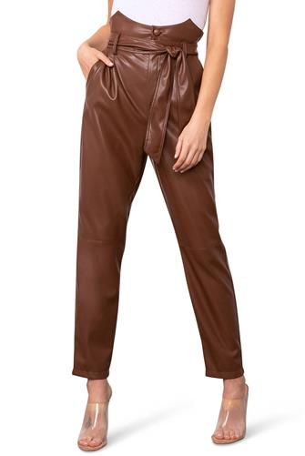 FAUX DARLING VEGAN PPRBG PANTS BROWN