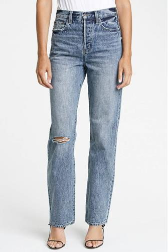 Cassie Super Hi Rise Straight Leg Jean in Playday LIGHT-DENIM--