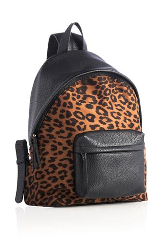 Tori Leopard Backpack BLACK-MULTI--