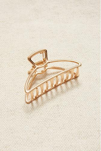 Gold Metal Half Moon Claw Hair Clip GOLD