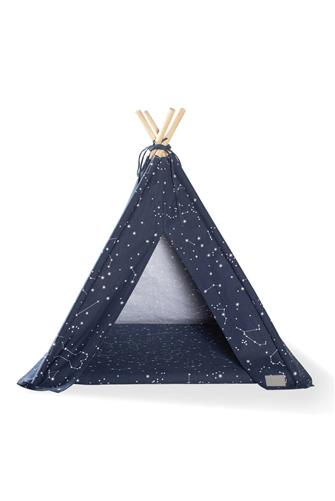 Celestial Canvas Teepee Pet Bed NAVY