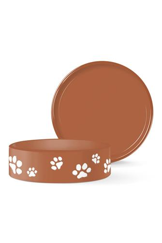 Small Paws Pet Bowl RUST