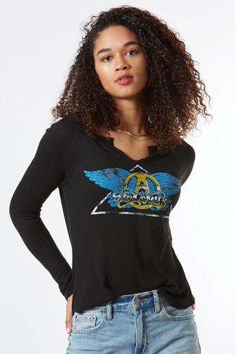 Aerosmith Thermal Graphic Top BLACK