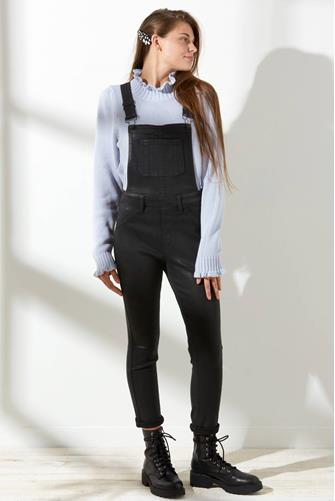 Jesse Overalls in Coated Black BLACK