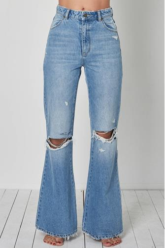 Rolla's East Coast Flare Jean in Sofia Worn LIGHT-DENIM--