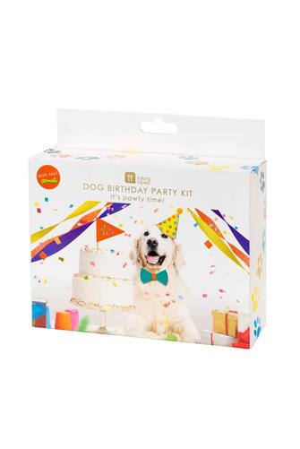 Talking Tables Dog Birthday Party Kit WHITE MULTI -