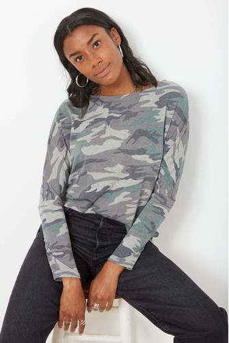 Camo Lace-Up Back Top CAMO