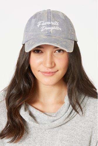 Favorite Daughter Distressed Baseball Hat BLUE