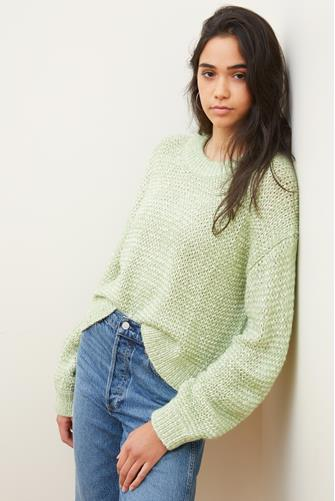 Neely Marled Pullover LITE-GREEN