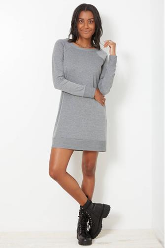 Marled Sweatshirt Dress GREY