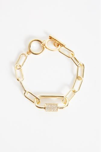 Chain Link Lock Bracelet GOLD