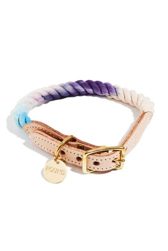 The Lois Cotton Rope Cat & Dog Collar PURPLE-MULTI--