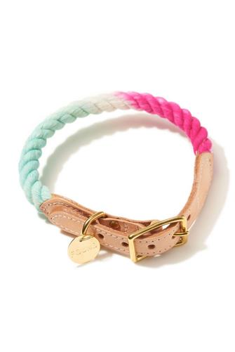 California Rope & Leather Cat & Dog Collar PINK-MULTI--