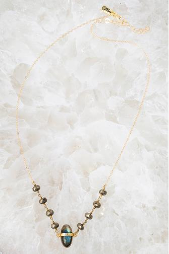 Cove Labradorite Necklace GREY-MULTI--