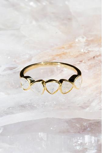 Grace Moonstone Ring CLEAR