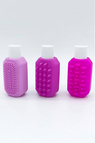 Pink Silicone Travel Bottle Three Pack PINK