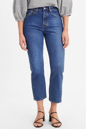 Wedgie Hi Rise Straight Leg Jean in Market Stance MEDIUM DENIM