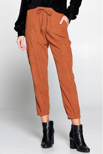 Brushed Cargo Jogger RUST