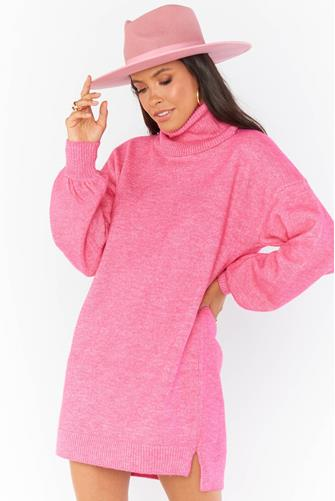 Chester Sweater Dress  HOT PINK
