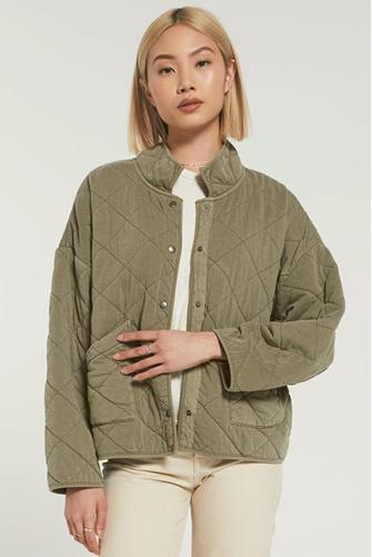 Maya Quilted Jacket OLIVE