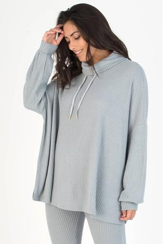 Grey Lounge Pro Waffle Knit Pullover GREY