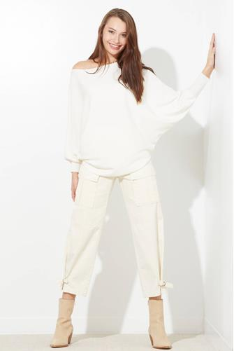 Boatneck Batwing Sweater IVORY