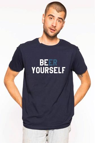 Beer Yourself Graphic Tee NAVY