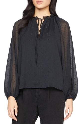 Live It Up Volume Blouse BLACK