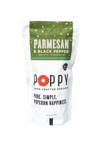 Poppy Parmesan & Black Pepper Popcorn WHITE-MULTI--