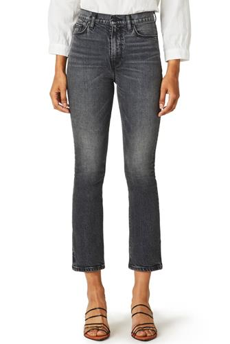 Holly Hi Rise Crop Bootleg Jean CHARCOAL