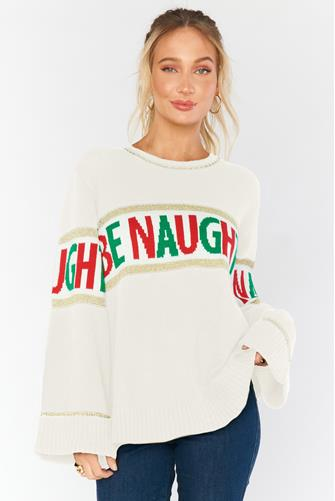 Andes Sweater in Be Naughty IVORY