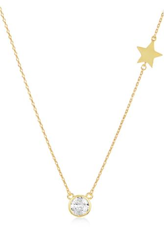 Cade Pave Star Necklace GOLD