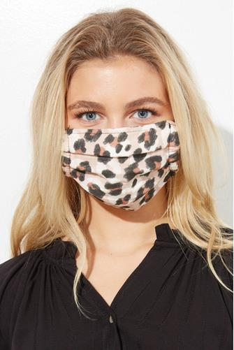 Leopard Cotton Face Mask Three Pack MULTI