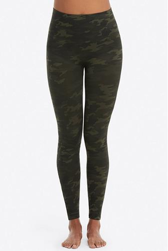 Green Camo Look At Me Now Seamless Leggings GREEN-MULTI--