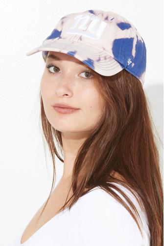 New York Giants Tie Dye Baseball Hat BLUE