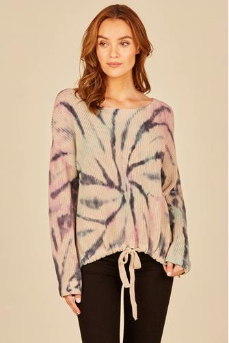 TIE DYE BALOON SLEEVE SWEATER MULTI