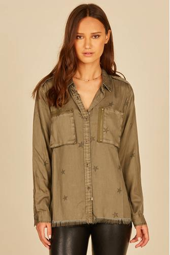 Tencel Long Sleeve Shirt OLIVE