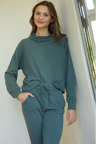 Green Cowl Neck Sweatshirt GREEN