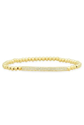 Gold Beaded Bar Bracelet GOLD