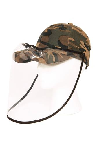 Camo Hat Face Shield CAMO