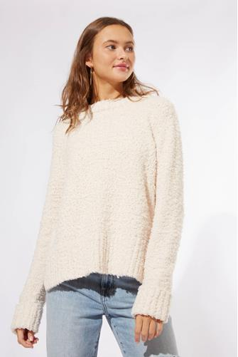 LS COZY TEDDY PULLOVER IVORY