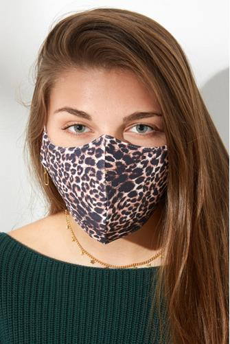 Leopard Face Mask BROWN-MULTI--