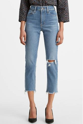 724 Hi Rise Straight Leg Jean in New York Y'all MEDIUM-DENIM