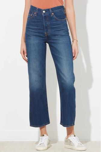 Ribcage Straight Leg Ankle Jean in Standing Steady MEDIUM-DENIM