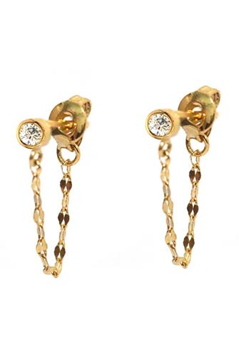 Stud Chain Earrings GOLD